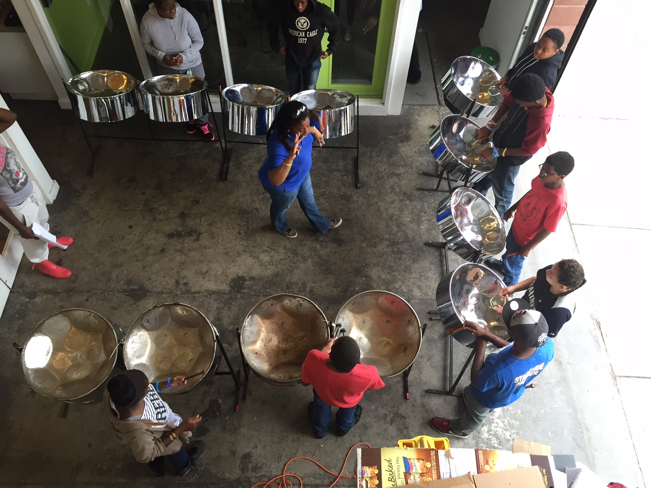 A steel drum workshop became a fast favorite among Red Hook youth this summer.
